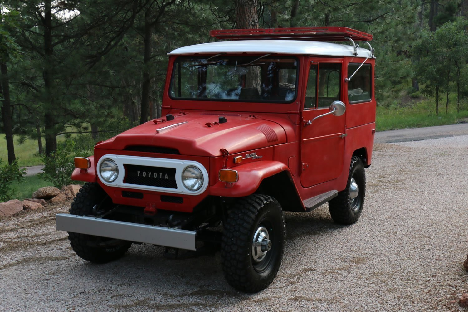 for sale 1971 toyota land cruiser fj40 red 79k miles red line land cruisers. Black Bedroom Furniture Sets. Home Design Ideas