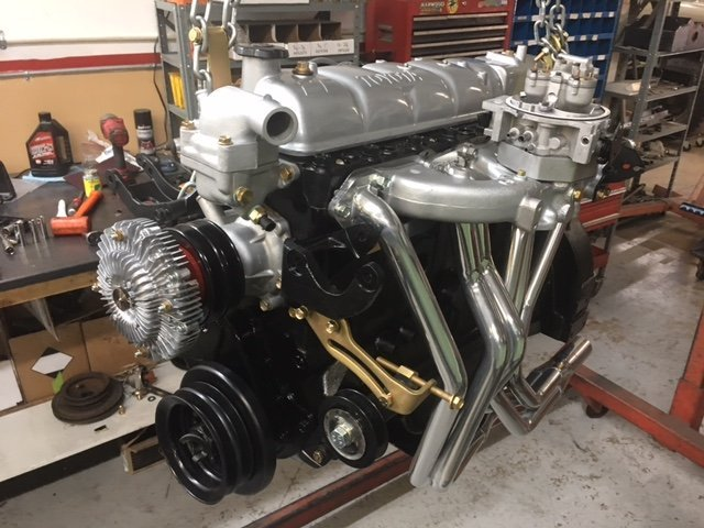 red  freaky high output  engine complete tbi fuel injection