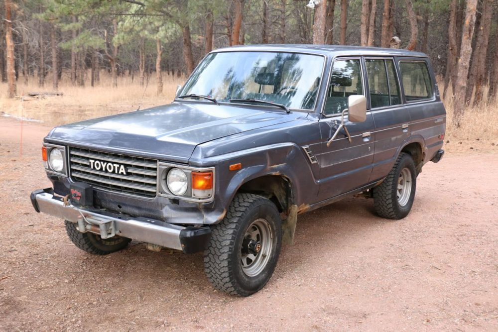 sold 1985 toyota land cruiser fj60 low miles red line. Black Bedroom Furniture Sets. Home Design Ideas