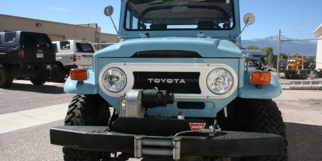 Old Blue FJ40 Headlights