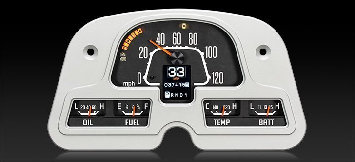 FJ40 Digital Instrument Panel - Dakota Digital Gauge Cluster on