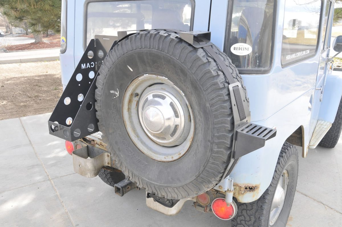 Cam R U T Spare Tire Accessory Axe Shovel Jack Mount