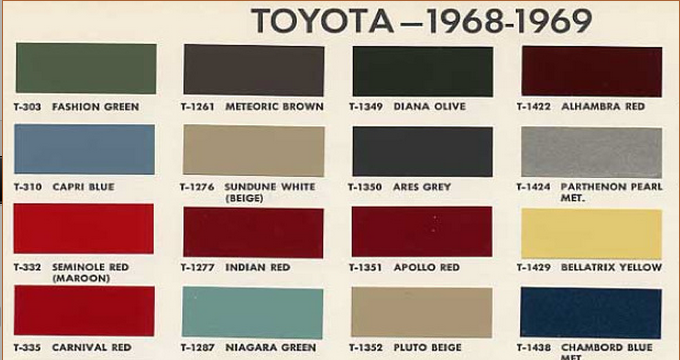 FJ40, FJ55, FJ60 Color Codes for Painting Your Land Cruiser