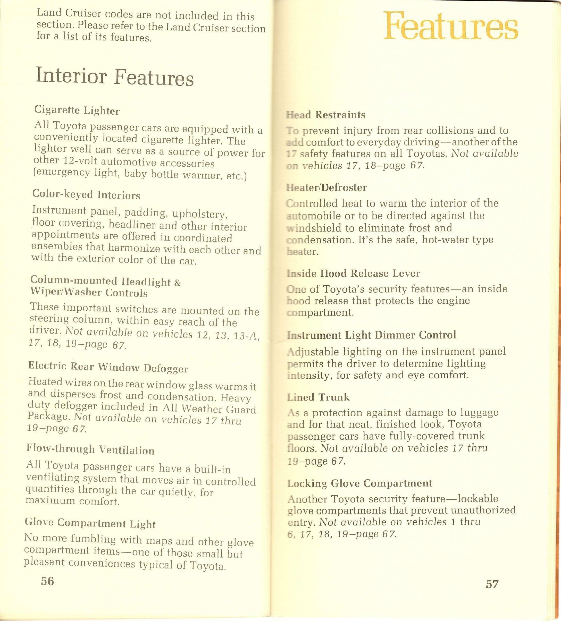 Page 56 & 57: FJ40 Specs