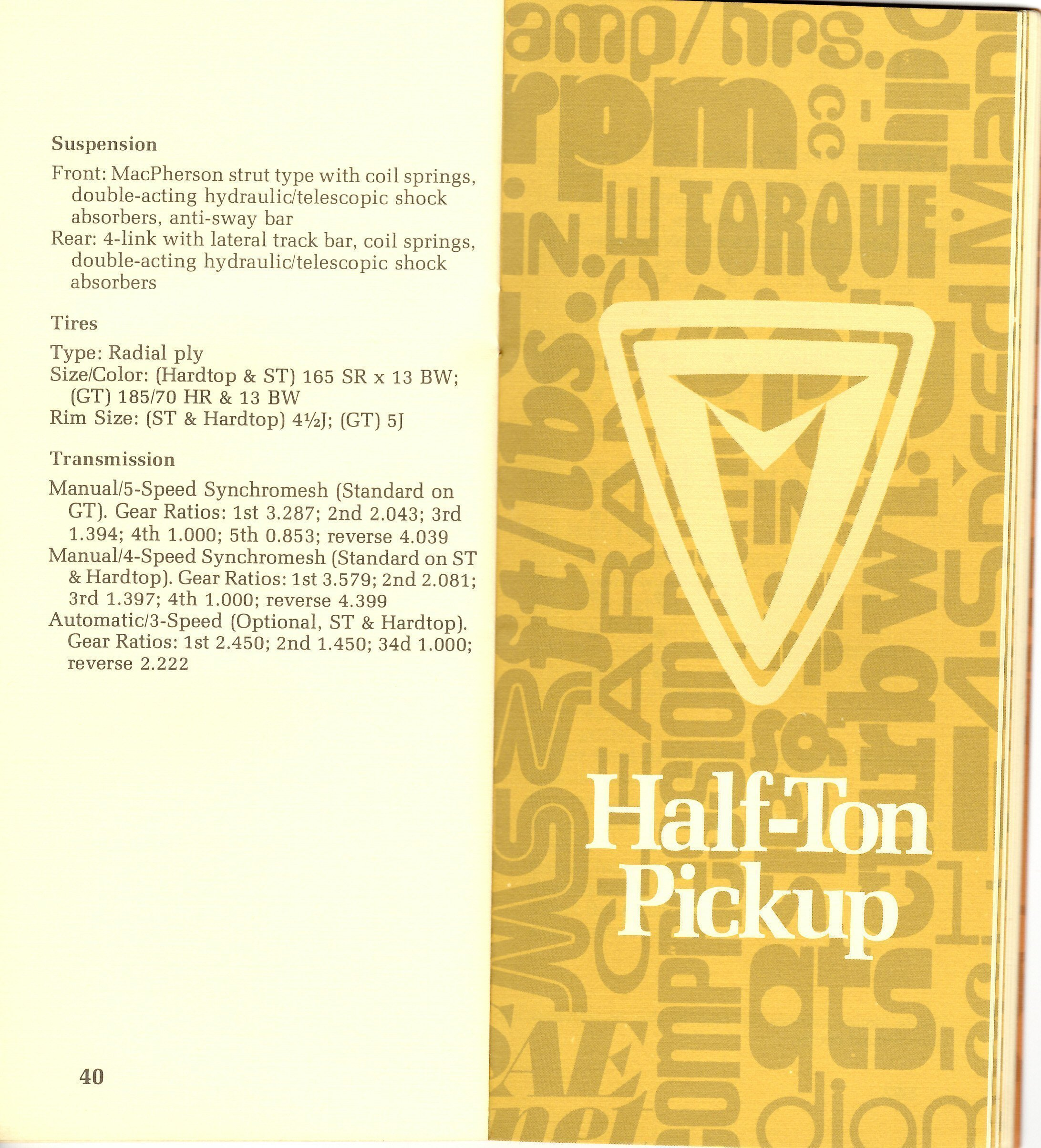 Page 40 & 41: FJ45 Info