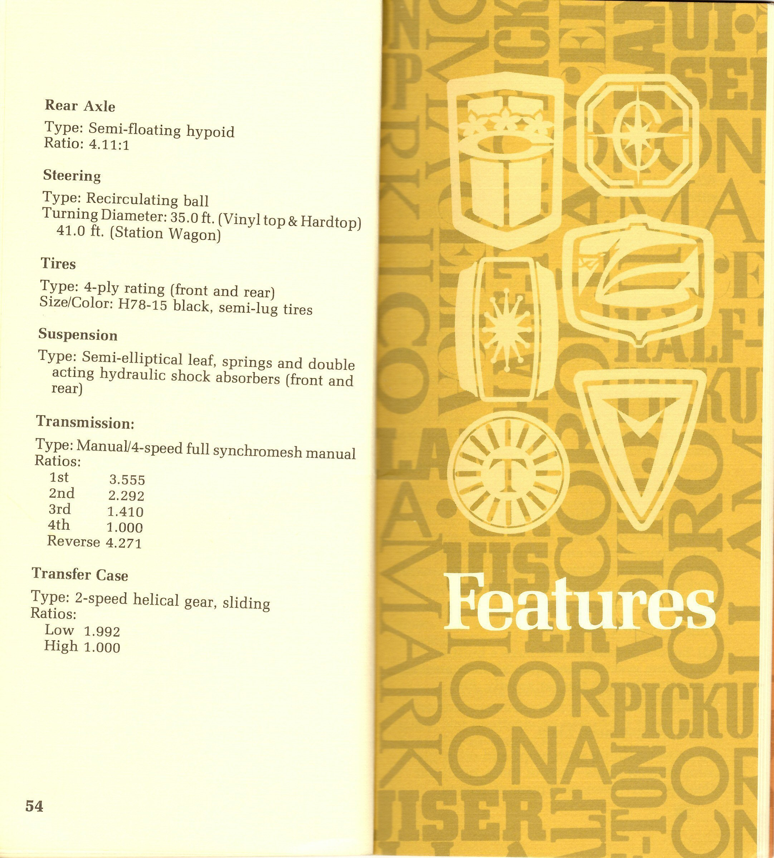 Page 54 & 55: FJ40 Specs